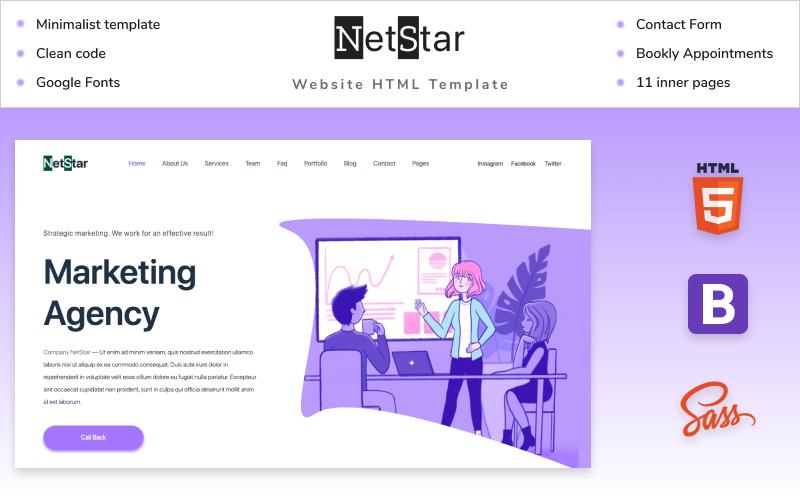 Net Star   Marketing Agency Website HTML5 Template