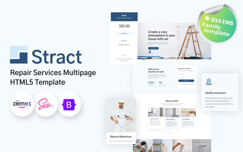 Stract - Repair Service Website Template