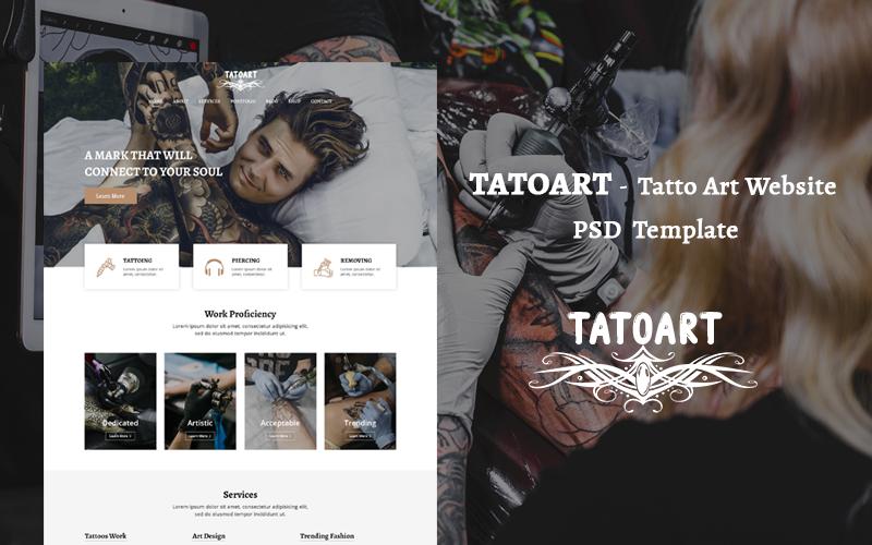 TATOART - 纹身艺术网站PSD模板