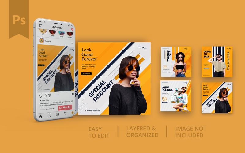 YOLO Social Media Post Template Design For Fashion