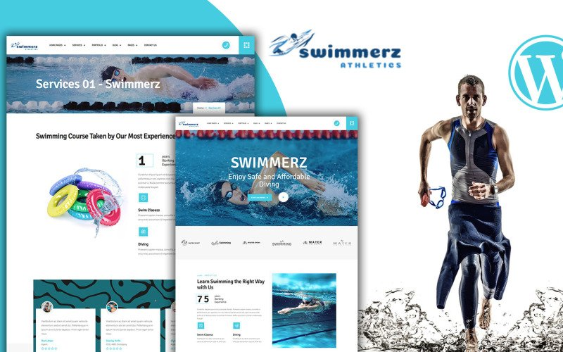 Swimmerz - Simningstjänst WordPress-tema