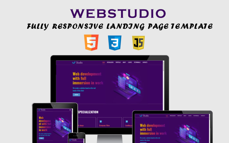 WebStudio - Fully Responsive Working Landing Page Template
