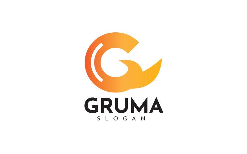 G brev Gruma logotyp mall