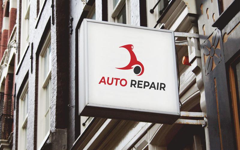 Mall för automatisk reparation av logotypdesign