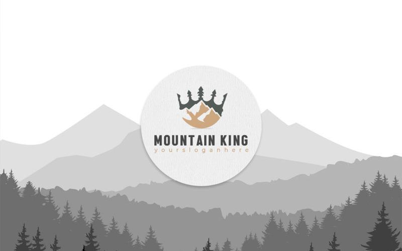 Mountain King logotyp mall