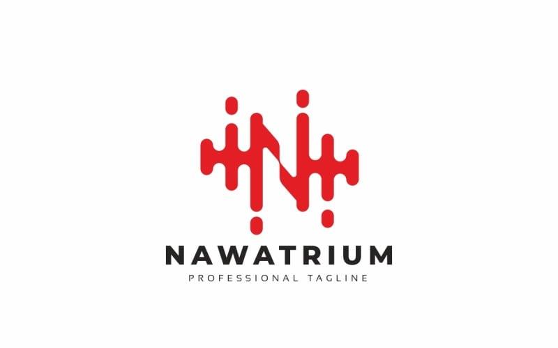 Nawatrium N Letter-logotypmall