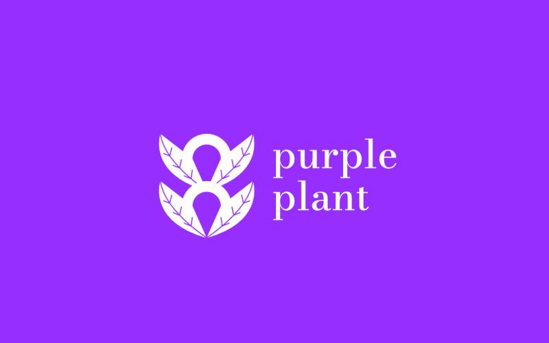 Purple Plant Logo Design Concept