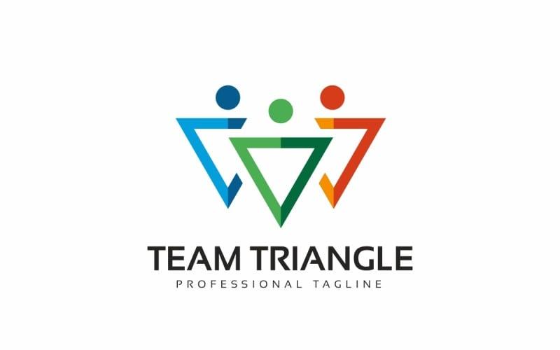Team triangel logotyp mall
