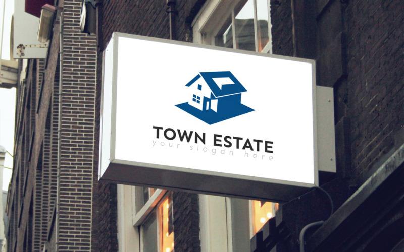 Town Estate logotyp mall