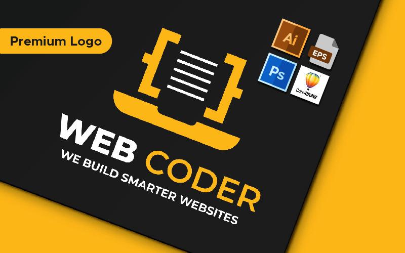 Webbkodare minimalistisk logotypmall