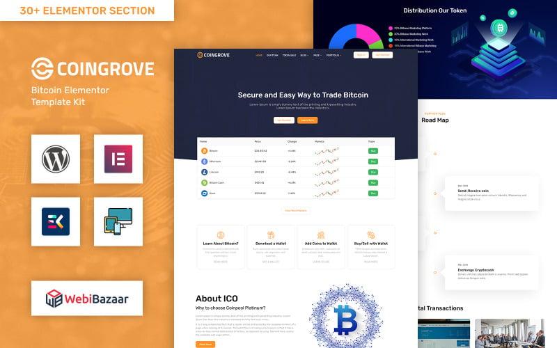 Coingrove - Bitcoin & Cryptocurrency Elementor WordPress Theme