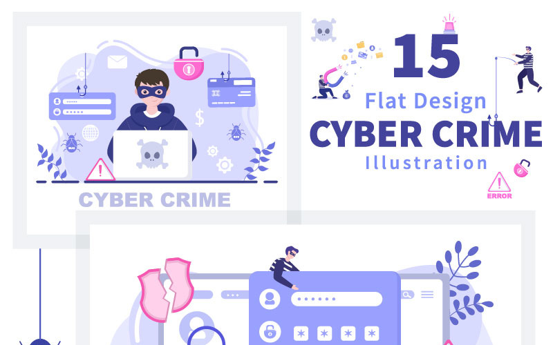15 Cyberbrottsillustration