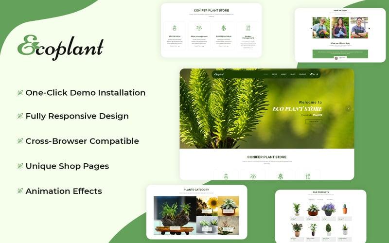 EcoPlant - Plant Store WooCommerce-tema