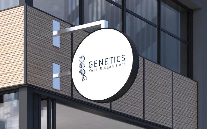 Genetics Logo Design Template