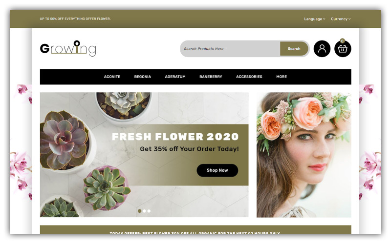 Growing - Flower Store Opencart Theme
