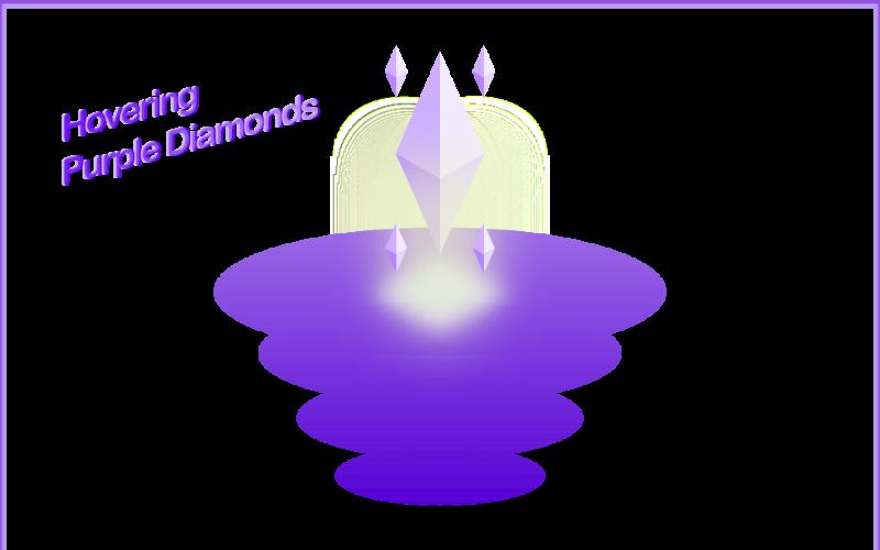 Hovering Purple Diamonds - Vector Graphic