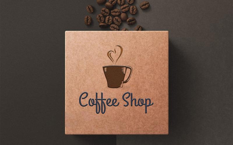 Kaffe logotyp mall