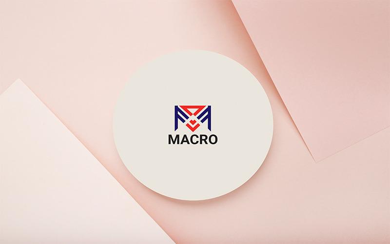 M letter Macro logo Template