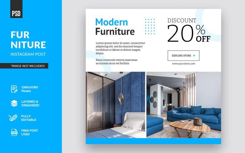 Minimalistiska möbler Instagram Post sociala medier