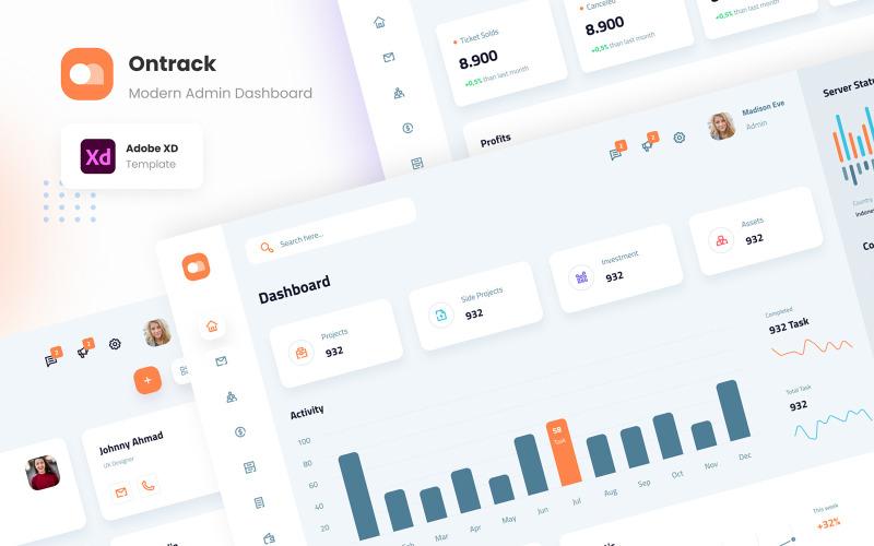 Ontrack - Modern Admin Dashboard UI Elements