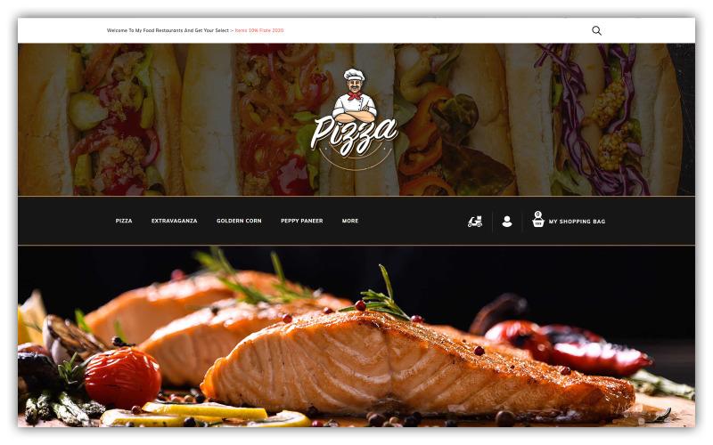 Pizza - Opencart-tema för livsmedelsbutik