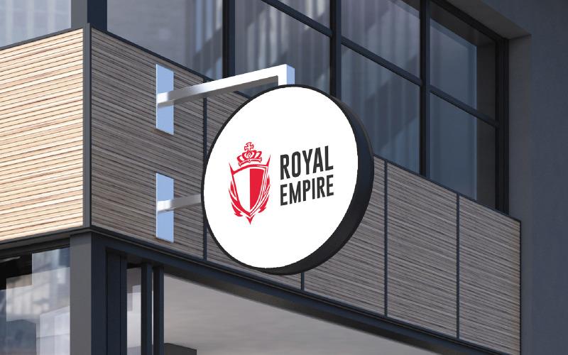 Royal Empire logotyp mall