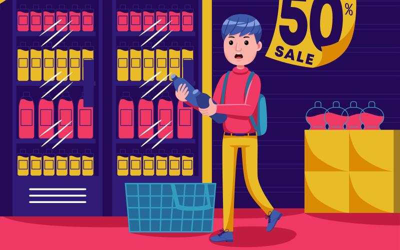 Shopping vektorillustration # 02