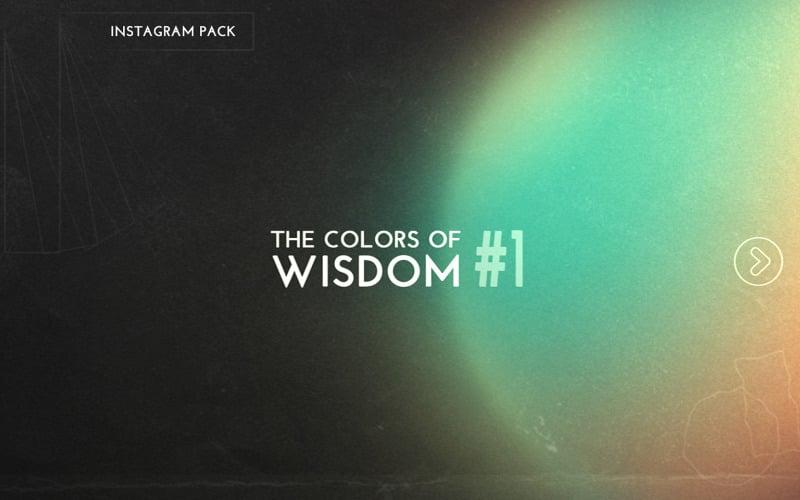 The Colors of Wisdom # 1 Instagram-mallar packar sociala medier