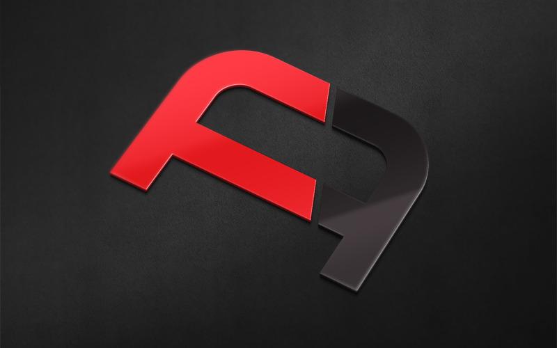 AF kreativ logotyp designmall