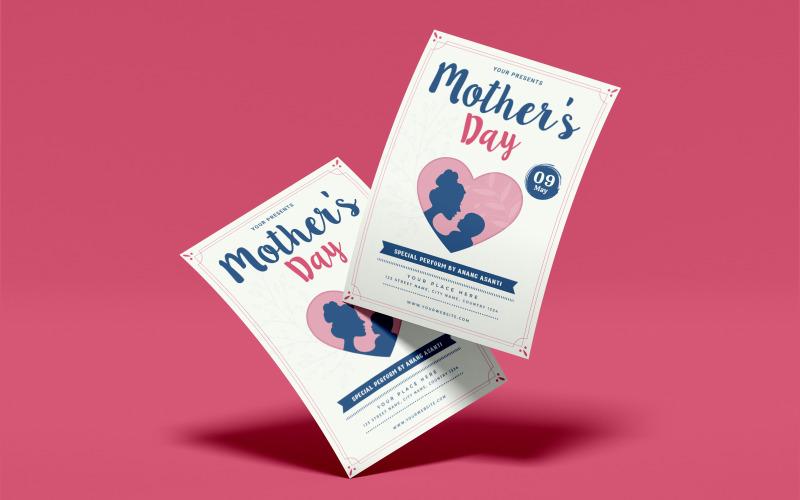 Attraktiv mors dag reklamblad