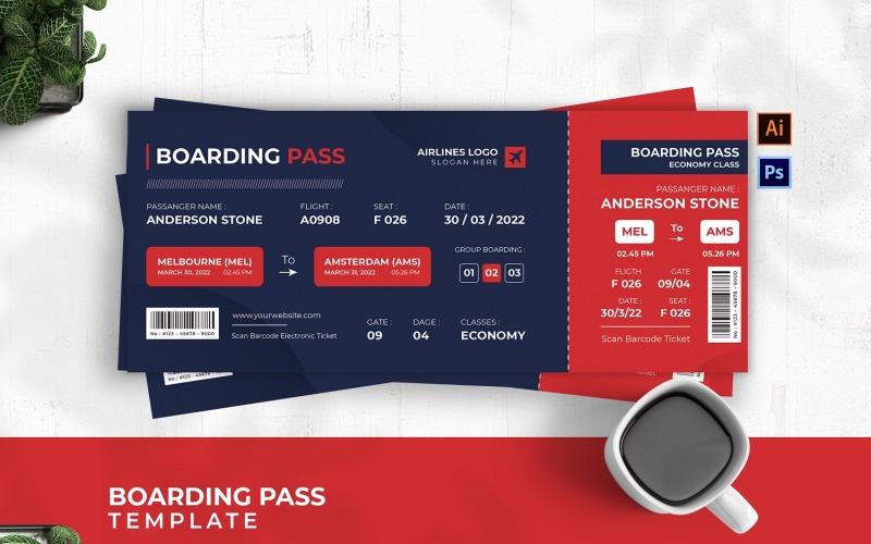 Boarding Pass för flygbas
