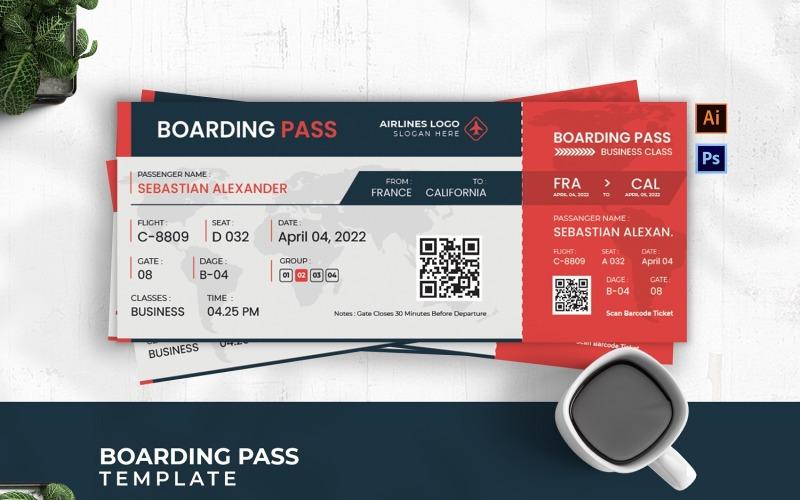 Boarding Pass för turnéklass