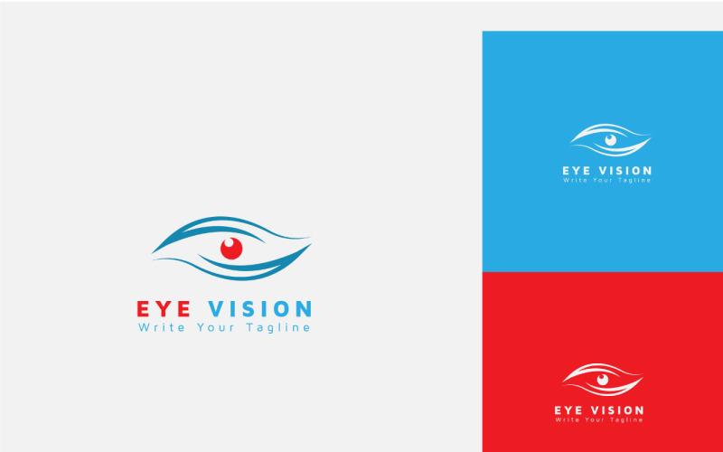 Eye Vision logotyp formgivningsmall