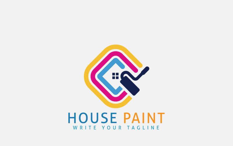 Husmålning Fastighetslogotypkoncept för byggnadsreparation
