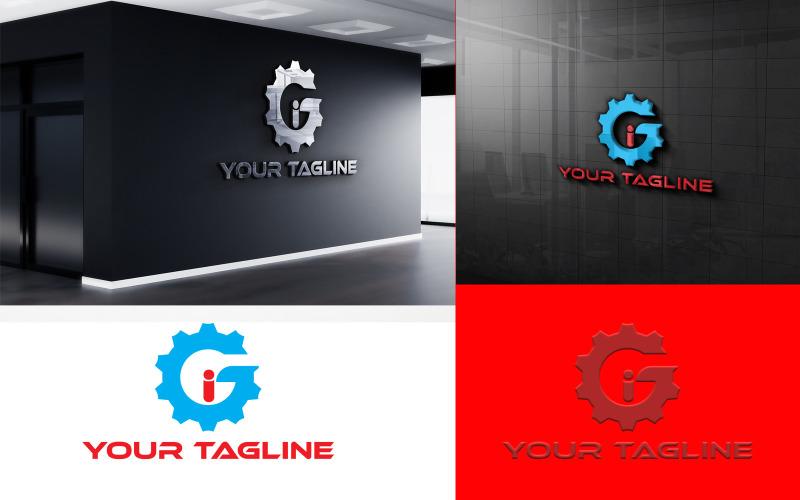 Kreativ GI Gear-logotypdesign