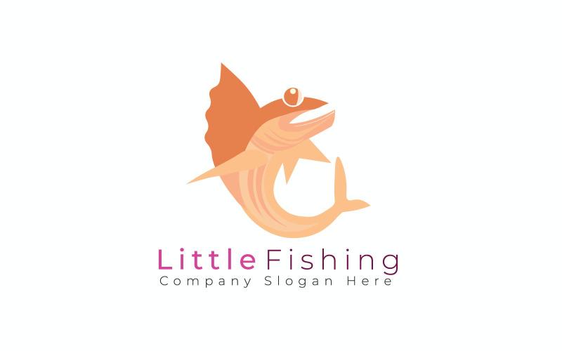 Liten fiske logotyp mall