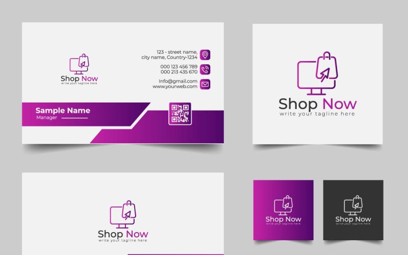 Mall för företags visitkort och logotyp