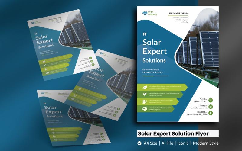 Solpanel Expert Solution Flyer Mall för företagsidentitet