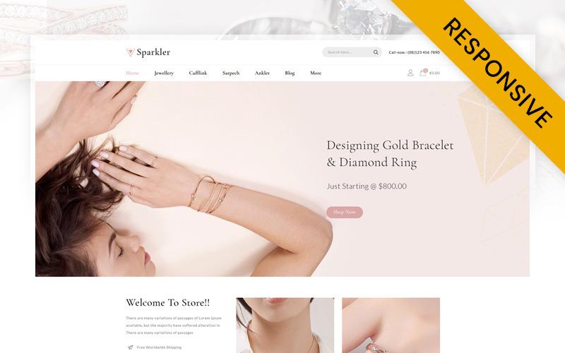 Sparkler - Smyckesbutik Prestashop Responsive Theme