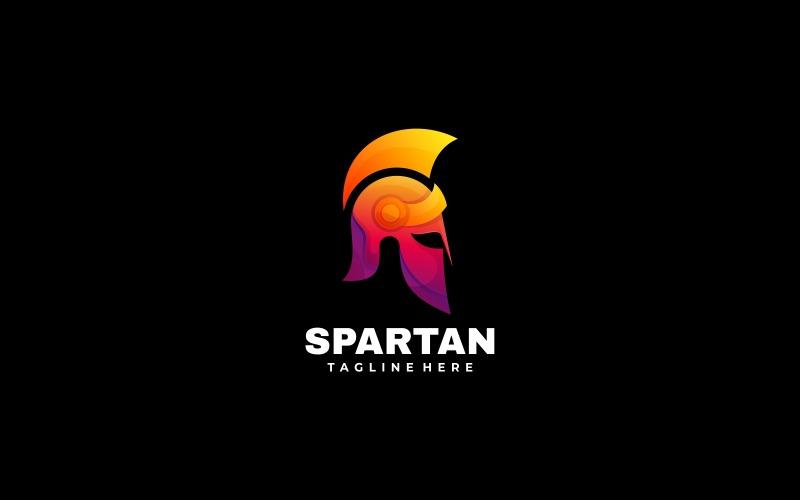 Spartansk tonad färgglad logotyp