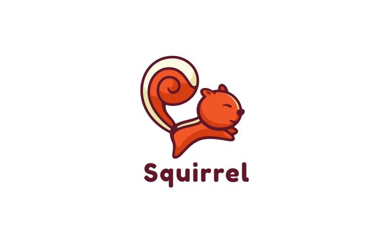 Squirrel Simple Mascot Logo