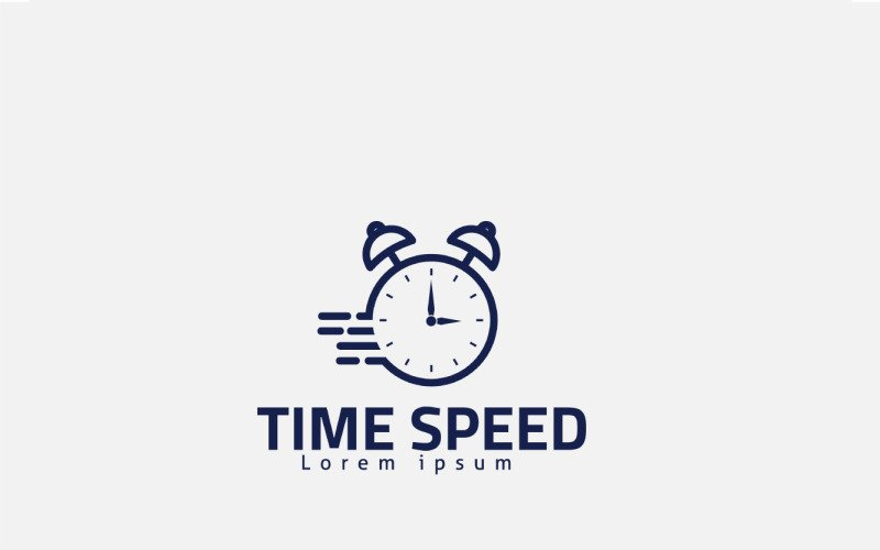 Time Speed Logo Design Concept For Watch