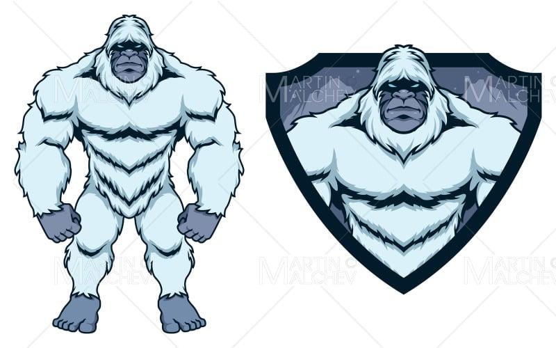 Bigfoot Yeti Mascot Vector Illustration