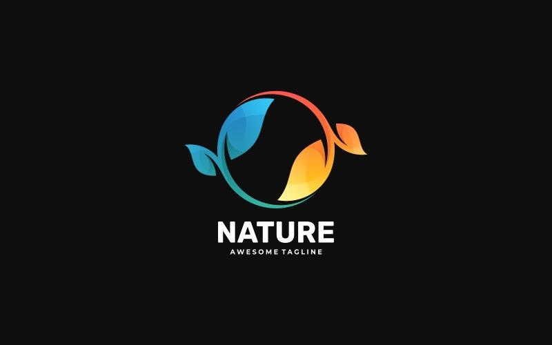 Cirkel natur färgglada logotyp