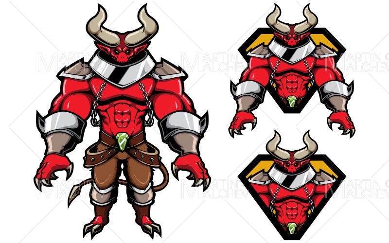 Demon Fantasy Mascot Vector Illustration
