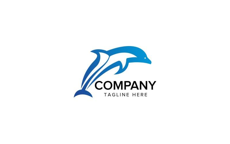 Dolphin Logo Design Vector Illustration