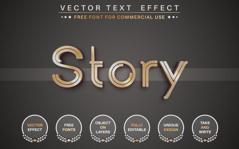 Golden Story - redigerbar texteffekt, teckensnittsstil, grafikillustration