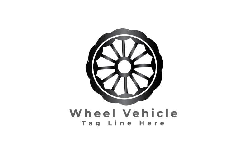 Gratis hjulfordon logotyp mall