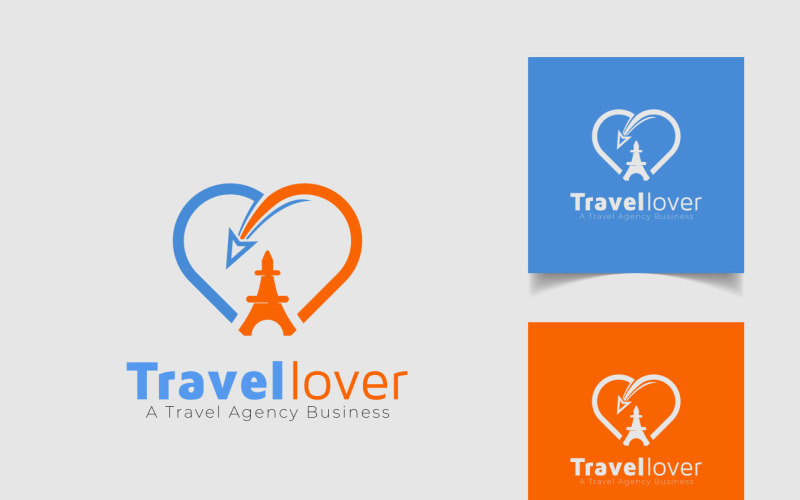 Travel Logo Concept For Travel Lover And Plane Icon
