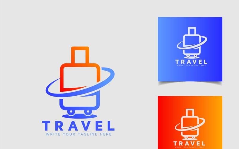 Travle Logo Design Template With Bag